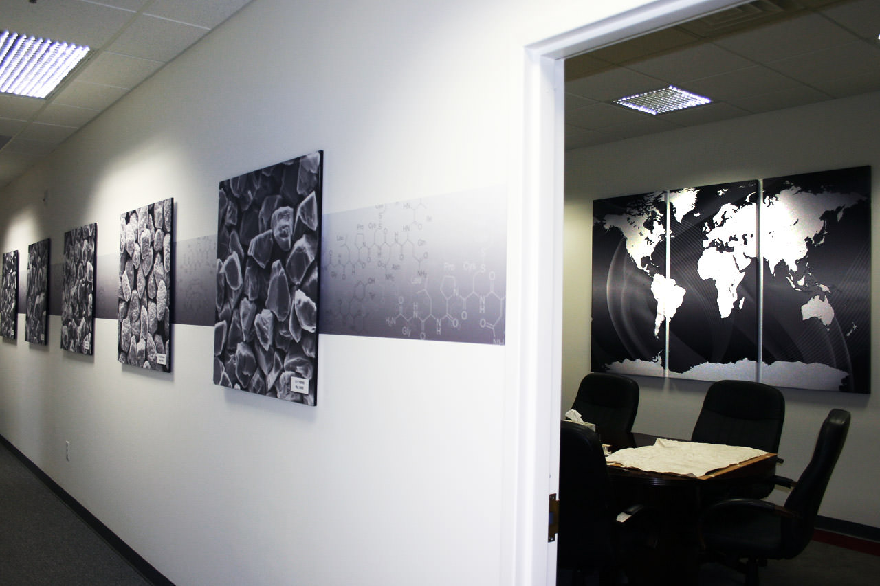 Partial Wraps & Foam Core Posters for Specialized Office Interior