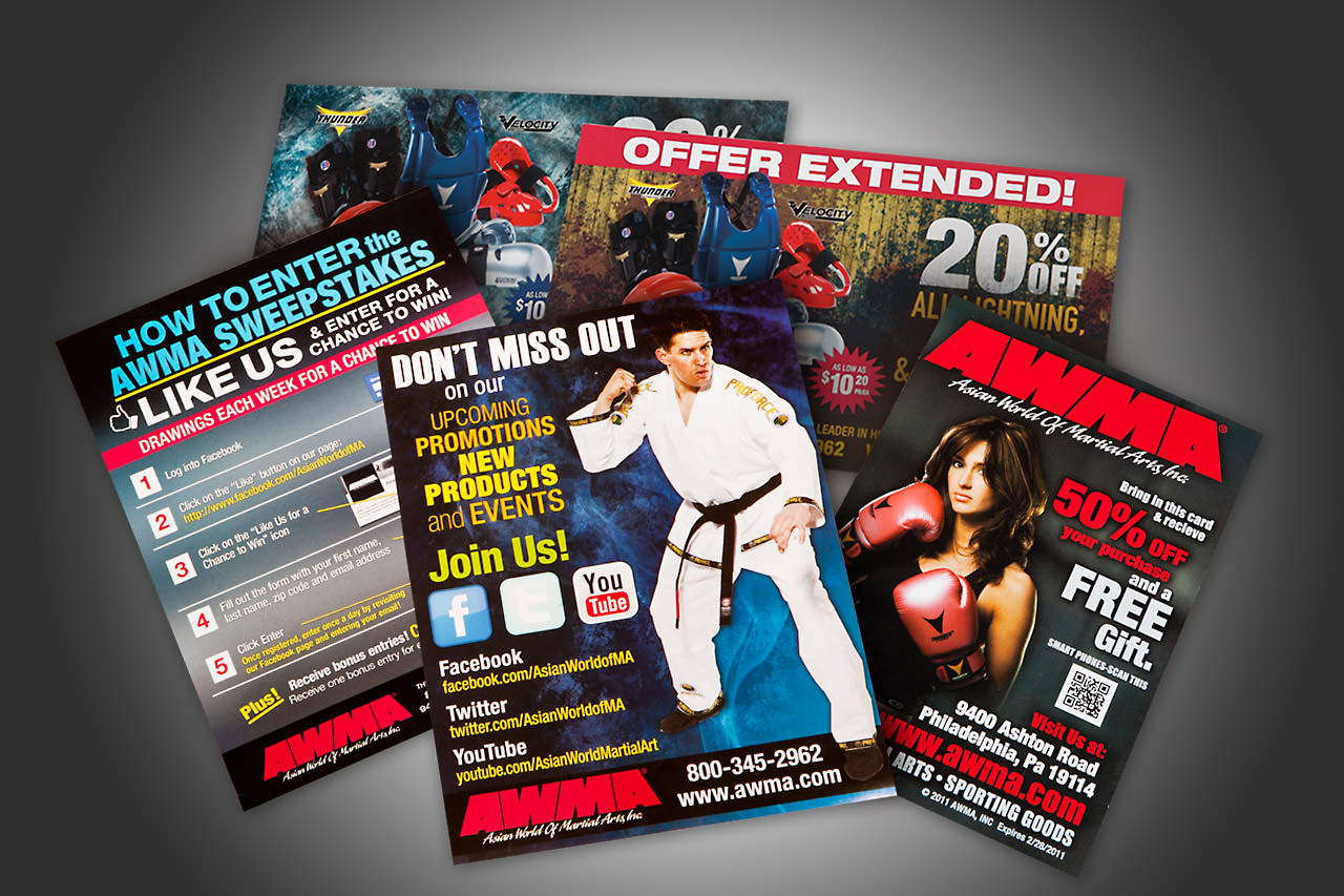 Monthly Promotional Sheets & Direct Mailers