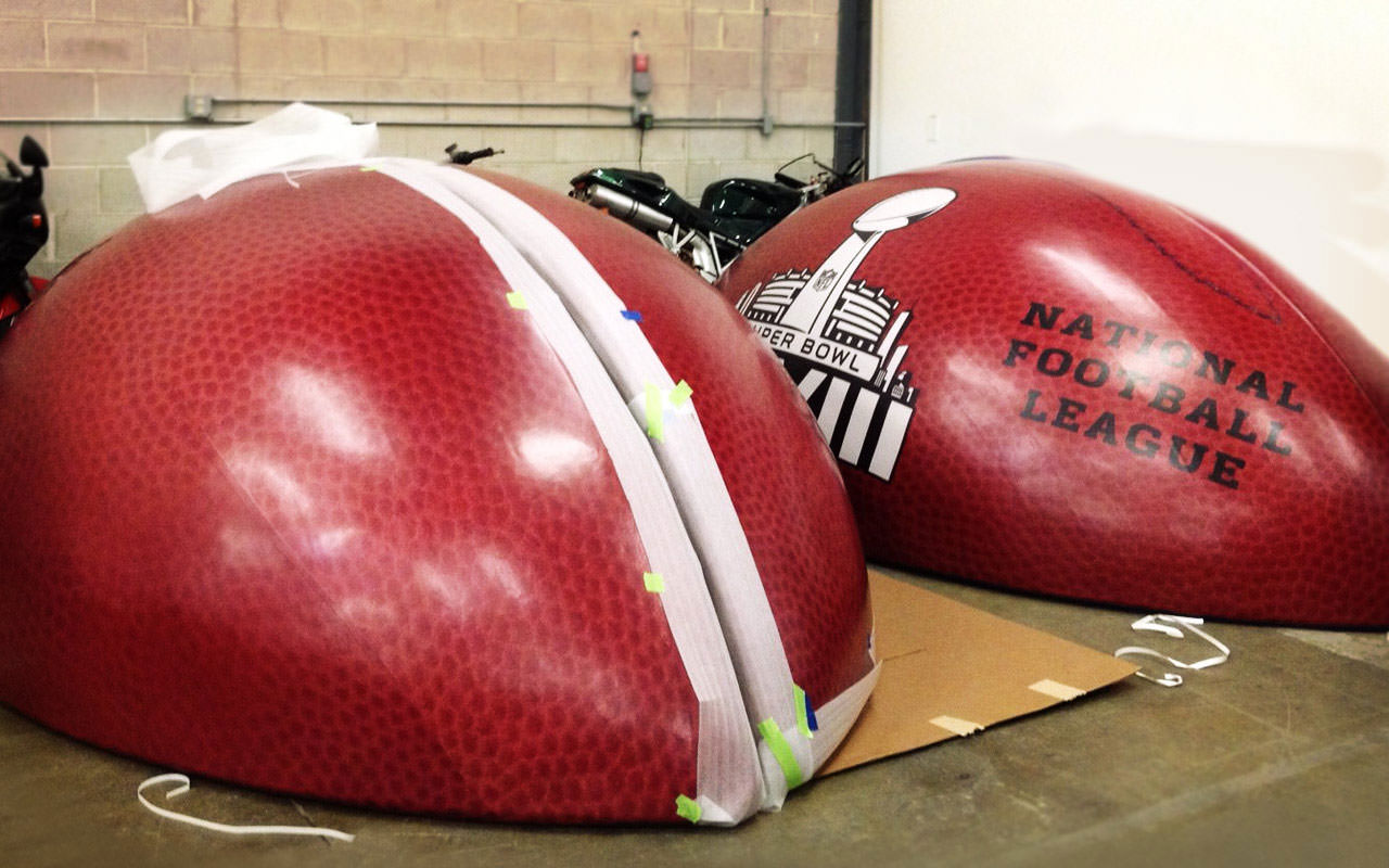 Vinyl Wrapped Football Quadrants