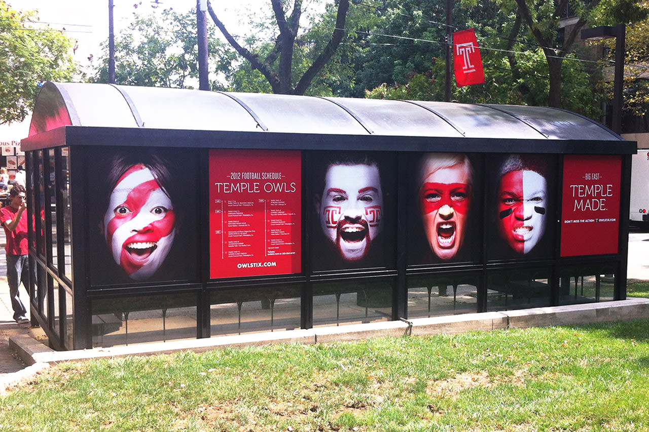 Window Graphics on Bus Shelter